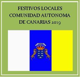 FESTIVOS LOCALES 2019