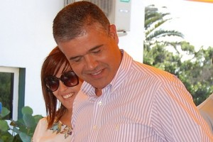 Paco González y Gema Sabina, alcalde y concejala portavoz del PP de Mogán