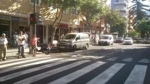 Vehículos ocupando diariamente Paradas de Taxis en el Centro de la Orotava
