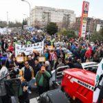 Taxistas andaluces respaldan la lucha de los agricultores