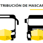 Distribución de mascarillas en el ámbito del transporte terrestre.